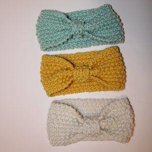 3 pcs crochet headband